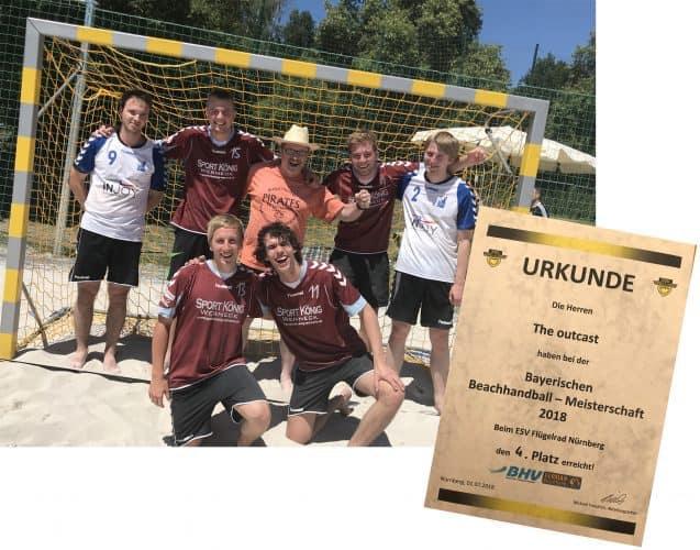 Vierter bei der bayerischen Beachhandballmeisterschaft