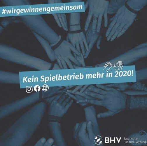 SPIELBETRIEB RUHT FÜR DEN REST VON 2020!