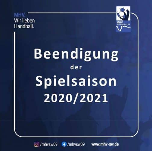 Beendigung der Saison 2020/2021
