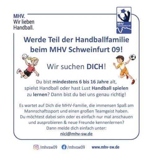 Kinder- und Jugendhandball – WIR SUCHEN DICH!